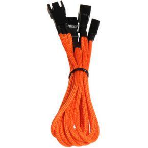 Image of Bitfenix 3-pin - 3x3-pin Adapter 60cm orange/black