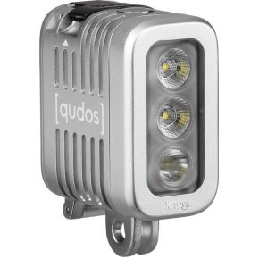 Qudos by Knog Qudos Action Light zilver voor gopro + andere Action Cams, DSLR's, Statief.