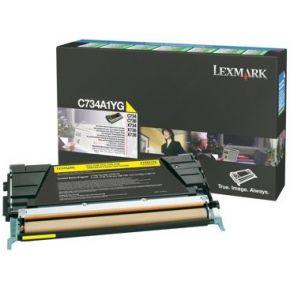 TONERCARTRIDGE LEXMARK C734A1YG PREBATE 6K GEEL