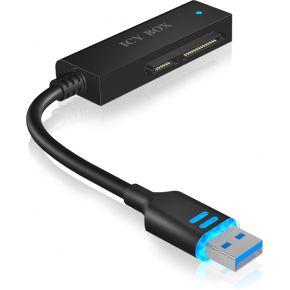 Raidsonic Adapter Kabel IcyBox 6,3cm SATA SSD-HDD->USB3.0 IB-AC603L-U3 (IB-AC603L-U3)