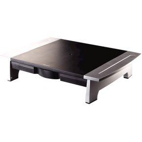 Monitorstandaard Office Suite riser klein zwart-grijs