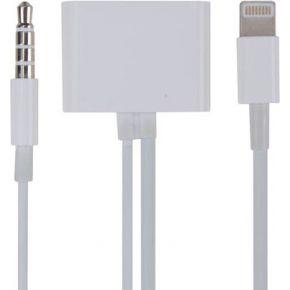 Image of 30-pins Apple® Vrouwelijk Naar 8-pins Lightning + 3.5 Mm Stereo Kabel Mannelijk