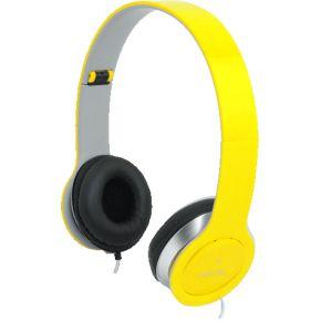LogiLink Koptelefoon LogiLink stereo 3,5mm&6,3mm geel (HS0030)