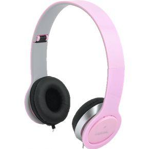 LogiLink Koptelefoon LogiLink stereo 3,5mm&6,3mm roze (HS0032)