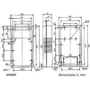 Image of Draagbare Behuizing - Grijs 180 X 100 X 43mm - Vaste Display
