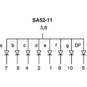 Image of 1-digit Display 13mm Gemeenschappelijke Anode Groen