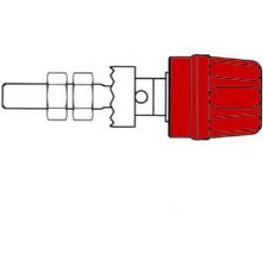 Image of 4mm Aansluitklem Met Geisoleerde Kop / Rood (pk10a)