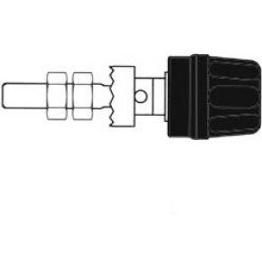 Image of 4mm Aansluitklem Met Geisoleerde Kop / Zwart (pk10a)