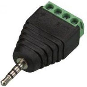Image of 2.5 Mm Stereoplug Naar 4-polige Schroefaansluiting (5 St.)