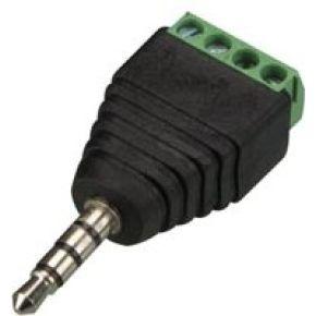 Image of 3.5 Mm Stereoplug Naar 4-polige Schroefaansluiting (5 St.)