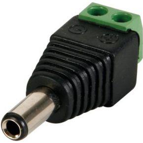 Image of Dc-stekker 5.5 X 2.1mm Mannelijk Naar Schroefaansluiting (5st)