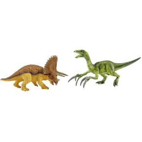 Image of Schleich - Schleich Dinosaurs Triceratops and Therezinosaurus Small Figures Set (42217)