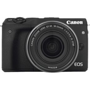 Image of Canon Eos M3 + 18-55mm + Body jacket + Neck strap + 16 GB SD