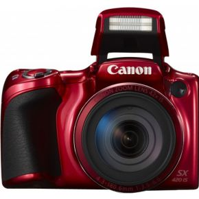Image of Canon Foto Camera PowerShot SX420 IS 20.5 Megapixel, WiFi, NFC (rood)
