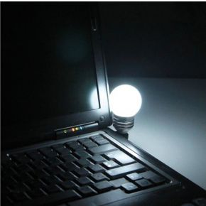 LED-lamp met USB-aansluiting Wit