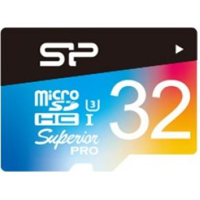 Silicon Power Micro SDCard 32GB Silicon P UHS-3 Sup.UHS-1U3 Ret.Mit-Color (SP032GBSTHD03V20SP)