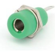 Image of Aansluitklem 4mm Soldeeraansluiting - Groen - (25 st.)
