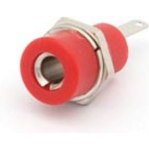 Image of Aansluitklem 4mm Soldeeraansluiting - Rood - (25 st.)