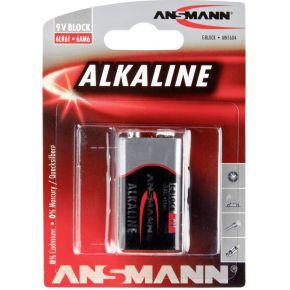 Image of 1 Ansmann Alkaline 9V-Block red-line