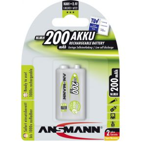 Image of 1 Ansmann maxe Accu NiMH 9V-Block 200 mAh duits