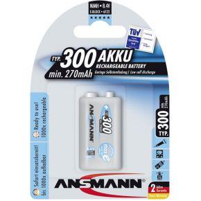 Image of 1 Ansmann maxE NiMH Accu 300 9V-Block 270 mAh