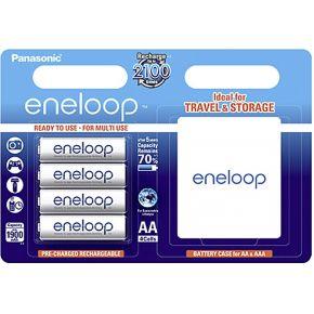 Panasonic eneloop AA + box AA oplaadbare batterij (penlite) NiMH 1.2 V 1900 mAh 4 stuks
