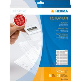 Image of Herma 7701 Slide Pockets 10 5X5 Clear