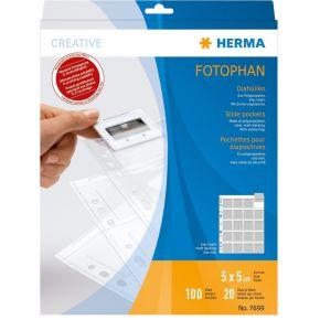 Image of Herma 7699 Slide Pockets 100 5X5