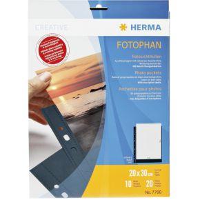 Image of Herma 7788 Hoes Doorzichtig 20X30 Zwart