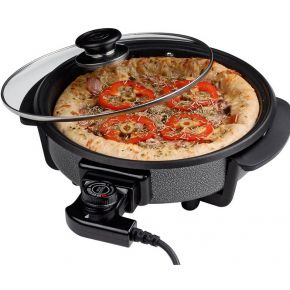 Image of Cuisinier Deluxe Pizzapan met glazen deksel (40cm)