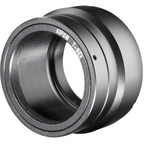 Kipon Adapter Sony E-Mount objectief aan T2 camera
