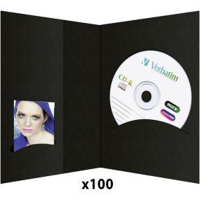 Image of 1x100 Daiber pasfotomapjes m. CD-Rom-vak tot 10x15 zwart