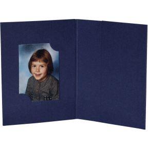 Image of 1x100 Daiber Pasfotomappen blauw voor 3 pasfotoformaten