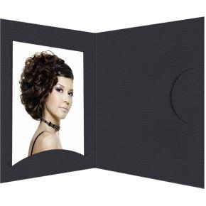 Image of 1x100 Daiber Pasfotomappen Opti-Line tot 10x15 cm zwart