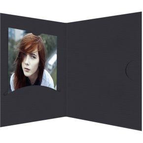 Image of 1x100 Daiber Pasfotomappen Opti-Line tot 5x7 cm zwart