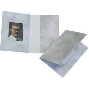 Image of 1x100 Daiber Pasfotomappen Wolkendesign grijs 31x42 mm