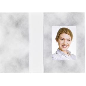 Image of 1x100 Daiber Pasfotomappen Wolkendesign grijs 36x50 mm