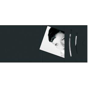 Image of 1x100 Daiber pasfotomappen zwart tot fotogrootte 70x100 mm