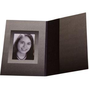 Image of 1x100 Daiber Pasfotomappen zwart/zilver 36x50 m