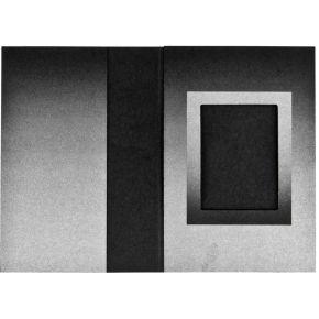 Image of 1x100 Daiber Pasfotomappen zwart/zilver 31x42 mm