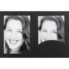 Image of 1x100 Daiber Portretmappen m. Passepartout 13x18 zwart