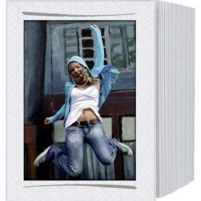 Image of 1x125 Daiber eindeloos passepar. 13x18 wit/penseelstreek zil