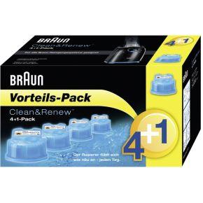 Image of Braun CCR 4+1 Clean & Charge Reinigingspatroon Blauw 5 stuks