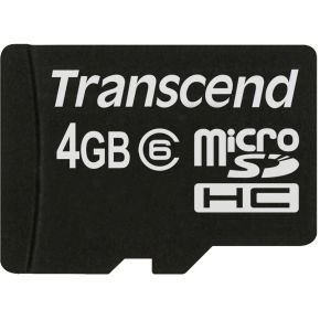 MicroSD Kaart SDHC 4GB Only Card Class 6