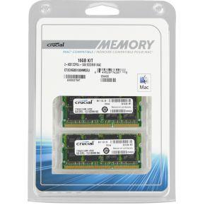 16GB (2x8GB) Crucial *Mac* SODIMM DDR3-1600 CT2C8G3S1339MCEU