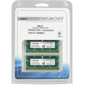 8GB 2x4GB DDR3 1066 MT PC3-8500 SODIMM 204pin voor Mac
