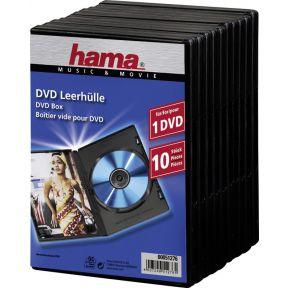 Image of 1x10 Hama DVD-cases met folie Zwart 51276