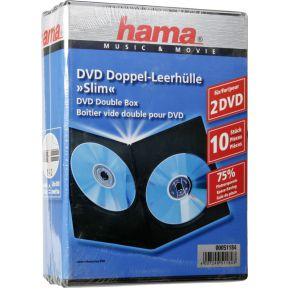 Image of 1x10 Hama DVD-Dubbel-cases slim 51184