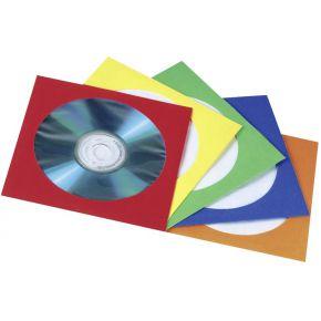 Image of 1x100 Hama CD Papierhoezen kleurrijk assortiment 78369