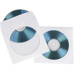 Image of 1x100 Hama CD/DVD Papierhoesjes wit SK 51174